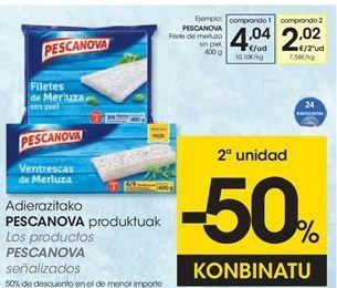 Oferta de Filetes de merluza Pescanova por 4,04€