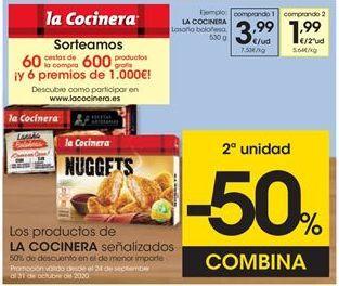 Oferta de Congelados La Cocinera por 3,99€