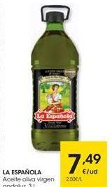 Oferta de Aceite de oliva virgen La Española por 7,49€