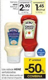 Oferta de Ketchup Heinz por 2,9€