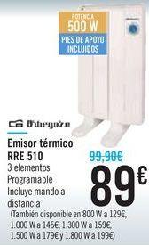 Oferta de Emisor térmico RRE 510 Orbegozo  por 89€