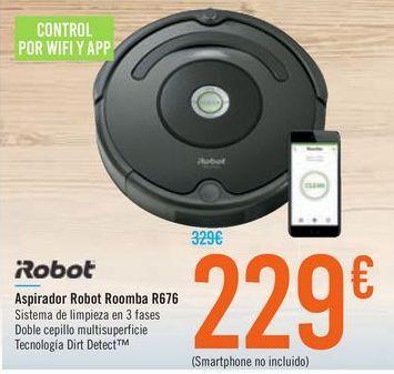 Oferta de Aspirador Robot Roomba R676 iRobot por 229€