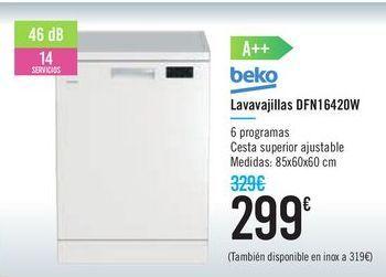 Oferta de Lavavajillas DFN1642DW Bako por 299€