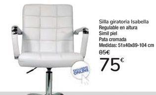 Oferta de Silla giratoria Isabella  por 75€