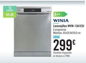 Oferta de Lavavajillas WvW-13A1ESI WINIA por 299€