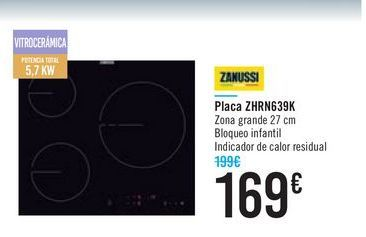 Oferta de Placa ZHRN639K ZANUSSI por 169鈧�