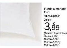 Oferta de Funda almohada Cutí  por 3,99€