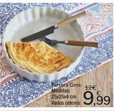 Oferta de Tartera Gres por 9,99€