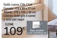 Oferta de Sofá.cama Clik Clak por 109€