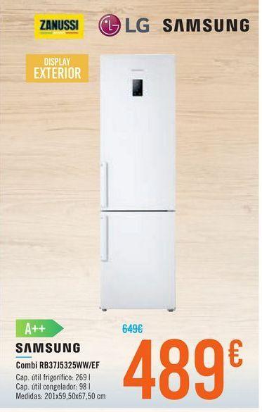 Oferta de Combi RB37J5325WW/EF SAMSUNG por 489€