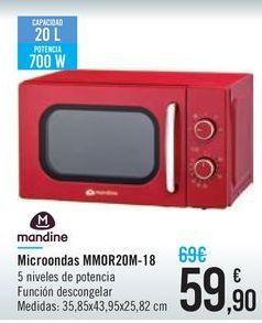 Oferta de Microondas MMOR20M-18 Mandine por 59,9€