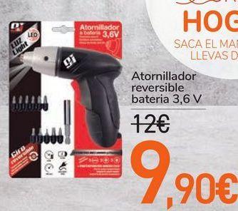 Oferta de Atornillador reversible batería  por 9,9€