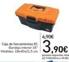 Oferta de Caja de herramientas 91  por 3,9€