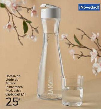 Oferta de Botella de vidrio de filtrado intantáneo Mod. Laica por 25€