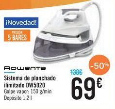 Oferta de Sistema de planchado ilimitado DW5020 ROWENTA por 69€