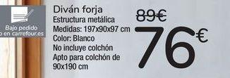 Oferta de Diván forja  por 76€