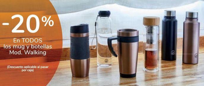 Oferta de En TODOS los mug y botellas Mod. Walking por