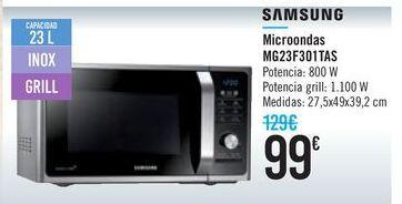 Oferta de Microondas MG23F301TAS SAMSUNG  por 99€