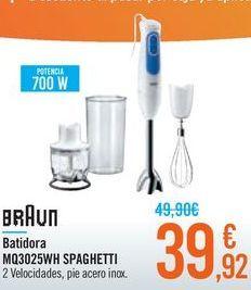 Oferta de Batidora MQ3025WH SPAGHETTI BRAUN por 39,92€