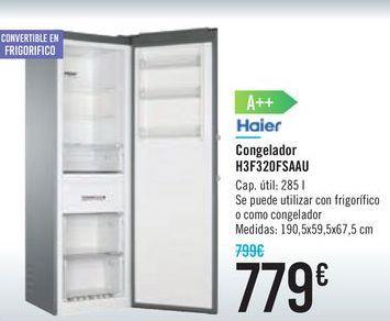Oferta de Congelador H3F320FSAAU HAIER por 779€