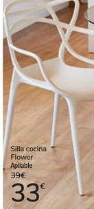 Oferta de Silla cocina Flower por 33€