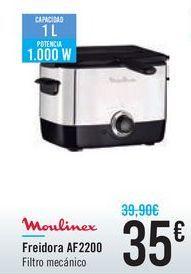 Oferta de Freidora AF2200 Moulinex por 35€