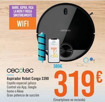Oferta de Aspirador Robot Conga 3390 CECOTEC por 319€