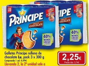 Oferta de Galletas Príncipe Lu por 4,49€