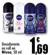 Oferta de Desodorante roll on Nivea por 1,69€