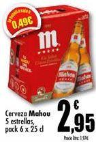 Oferta de Cerveza Mahou por 2,95€