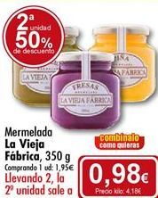 Oferta de Mermelada La Vieja Fábrica por 1,95€
