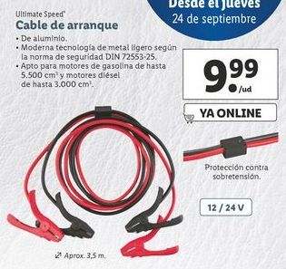 Oferta de Cable de arranque ultimate speed por 9,99€