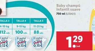 Oferta de Baby champú infantil suave  por 1,29€