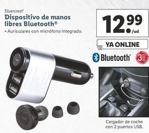 Oferta de Dispositivos de manos libres Bluetooth  SilverCrest por 12,99€