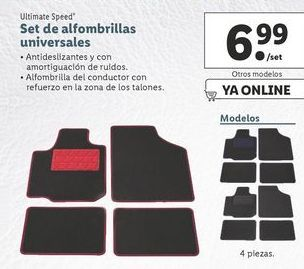 Oferta de Set de alfombrillas universales  ultimate speed por 6,99€