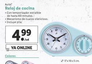Oferta de Reloj de cocina Auriol por 4,99€