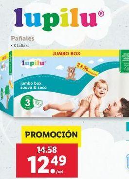 Oferta de Pañales Lupilu por 12,49€