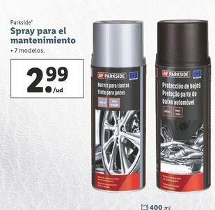 Oferta de Spray para el mantenimiento Parkside por 2,99€