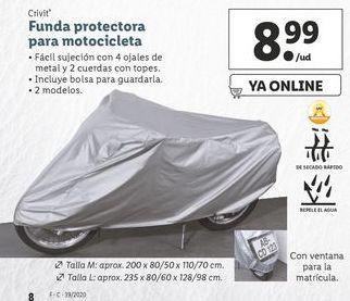 Oferta de Funda  protectora para motocicleta  Crivit por 8,99€