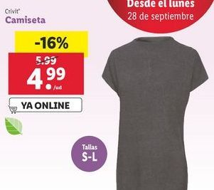 Oferta de Camiseta Crivit por 4,99€