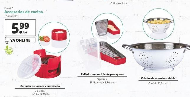 Oferta de Accesorios de cocina  ernesto por 5,99€