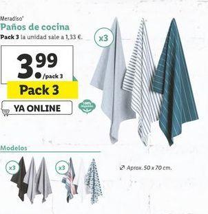 Oferta de Paños de cocina Meradiso por 3,99€