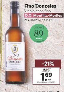 Oferta de Vino blanco fino Fino Donceles  por 1,69€