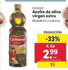 Oferta de Aceite de oliva virgen extra Carbonell por 2,99€