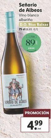 Oferta de Vino blanco albariño Señorio de Albeos  por 4,99€