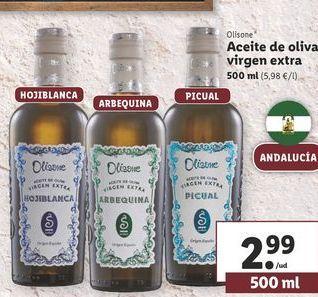 Oferta de Aceite de oliva virgen extra olisone por 2,99€