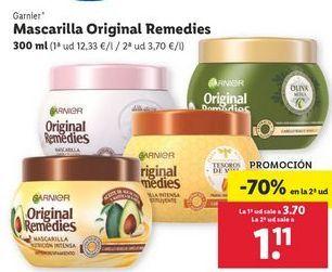 Oferta de Mascarilla Original Remedies Garnier por 3,7€