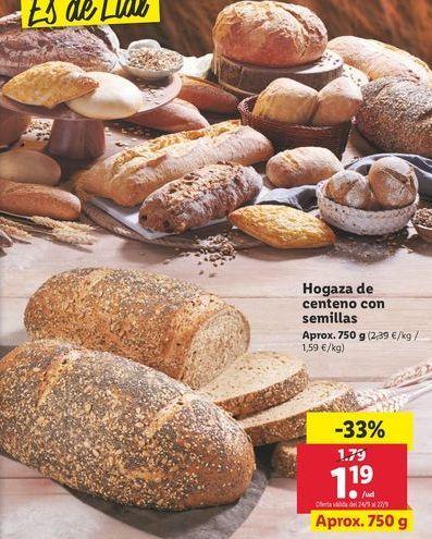 Oferta de Hogaza de centeno con semilla por 1,19€