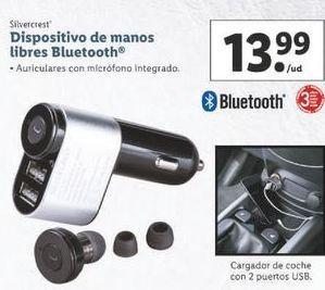 Oferta de Dispositivos de manos libres Bluetooth  SilverCrest por 13,99€