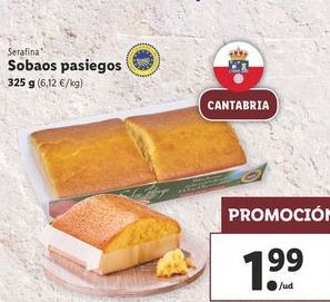 Oferta de Sobaos pasiegos  Serafina por 1,99€